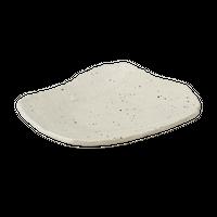 そば白 荒瀬型前菜皿    く09-006-31 寸法:21×17×4H㎝ 430g
