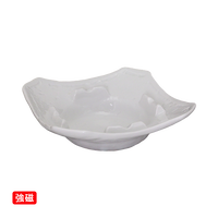 (強)白磁 灰皿(角)小    く09-143-13 寸法:12.5×12.5×4Hcm 250g