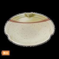 (強)緑彩半掛 5.0三つ押丸皿    く09-074-31 寸法:15φ×3H㎝ 240g