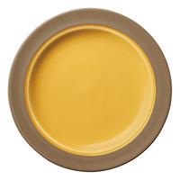 カントリーサイド ハニーアンバー 23cmミート皿    寸法:23.4φ×2.2H㎝