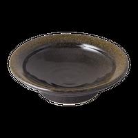 金彩天目(リム付)4.0高台丸皿    く09-014-27 寸法:13φ×4H㎝ 200g
