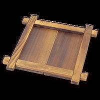 焼杉 井桁なべしき(大)    く09-151-03 寸法:22×22×2.5H㎝・内寸15×15×1Hcm