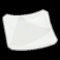 粉引塗分 4.0正角皿    く09-081-33 寸法:11×11×2.5H㎝ 170g