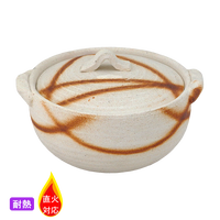 (耐)焼締火だすき 4.0土鍋(深)    く09-148-17 寸法:13φ×15×9H㎝ 500g