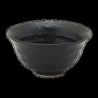 瀬戸黒(六べ)茶碗(小)    く09-112-12 寸法:12φ×6H㎝ 260g