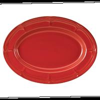 ラフィネ ヴィンテージレッド 30.5cmオーバルプラター    496-15944046 寸法:30.5×22.1×2.9H㎝