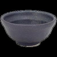 鉄黒 4.8段付丼(小)    く09-105-22 寸法:14.5φ×7.5H㎝ 400g