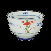 染赤絵 ゆらぎ煎茶    く09-118-24 寸法:φ9×6H㎝ 123g