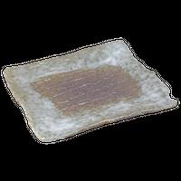 志野吹 角和皿    く09-052-11 寸法:20×16.5×1.5H㎝ 550g