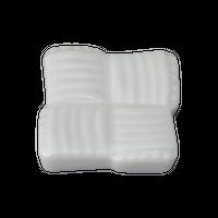 帯組み 白 箸置き    く09-144-36 寸法:3.8×3.8×0.8H㎝ 40g