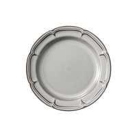 ラフィネ ストームグレー 16cmリムプレート    496-15973108 寸法:16φ×1.5H㎝
