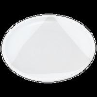 粉引塗分 8.0玉渕丸皿(新)    く09-067-15 寸法:24φ×3.5H㎝ 730g