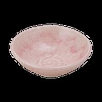 ピンク貫入(石目)4.0浅鉢    く09-091-12 寸法:13φ×4.5H㎝ 220g