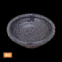 (強)黒ちらし 2.8丸浅鉢    く09-088-15 寸法:8φ×2.5H㎝ 60g