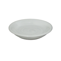 乳白 丸小皿    く09-127-27 寸法:9.5φ×2H㎝ 100g