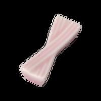 福重ね ピンク 箸置き    く09-144-23 寸法:5.3×1.8×1.2H㎝ 20g