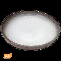 (強)伊賀白吹 9.0深丸皿    く09-064-11 寸法:27φ×4H㎝ 1300g