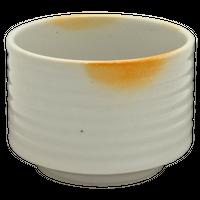 火色志野 筒型飯器(小)    く09-108-20 寸法:11φ×8H㎝ 310g
