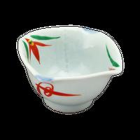 赤絵(布目)3.0桔梗丼    く09-024-10 寸法:8.8×8.8×5.3H㎝ 120g
