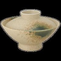 伊賀織部 大茶    く09-110-07 寸法:15.3φ×9.5H㎝ 420g