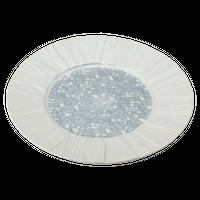 銀彩モザイク レリーフ27㎝丸皿    く09-064-19 寸法:27φ×3H㎝ 650g