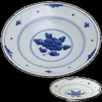 濃牡丹 RIリム六〇深皿    く09-073-05 寸法:φ19.5×4.5Hcm 360g