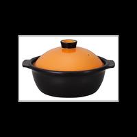 ポトフ 3号鍋 オレンジ/ブラック    496-19855003 寸法:15.7×13.5×10H㎝ 336cc