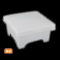 (強)白マット 角形重箱蓋向    く09-035-05 寸法:13.5×13.5×7H㎝ 750g