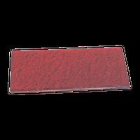 紅柚子天目 石肌長角23cm皿    く09-046-24 寸法:23.5×11×1.2H㎝ 460g