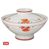 (強)赤絵小花 大茶    く09-109-31 寸法:14.8φ×9.3H㎝ 430g