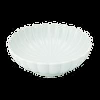 青白磁 菊型刺身    く09-010-29 寸法:15.5φ×5H㎝ 320g