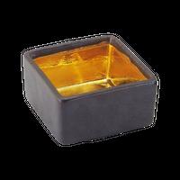 金彩黒茶 ぷち重    く09-029-01 寸法:φ6×3cm 80㏄
