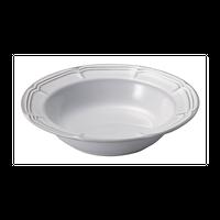 ラフィネ スモークホワイト 21.5cmリムスープボウル    496-15910012 寸法:21.7φ×5.2H㎝