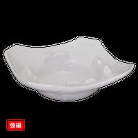 (強)白磁 灰皿(角)大    く09-143-12 寸法:15×15×4Hcm 390g