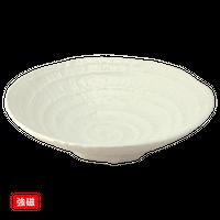 (強)白磁(六べ)8.5浅鉢    く09-097-14 寸法:26φ×7H㎝ 900g