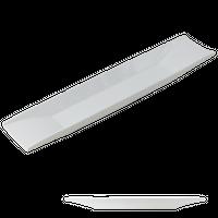 白釉 両上り47㎝長皿    く09-041-09 寸法:47×10.5×3.5H㎝ 720g