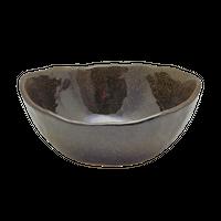 金彩天目 新楕円深鉢(中)    く09-013-13 寸法:16×13.5×7H㎝ 360g