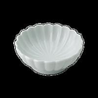 白磁 菊形平珍味    く09-027-24 寸法:7φ×2.5H㎝ 40g