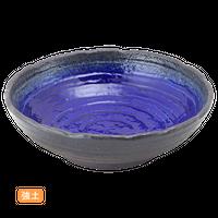(強)伊賀るり釉 波渕8.0鉢    く09-099-06 寸法:24.5φ×7.5H㎝ 1140g