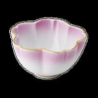 ピンク吹口金 3.0桜形丼    く09-020-19 寸法:9×8.5×5H㎝