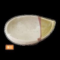 (強)緑彩半掛 5.5半月形丼    く09-003-23 寸法:19×13.5×6H㎝ 400g