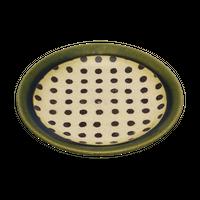 織部水玉 4.0皿    く09-079-30 寸法:12.5φ×1.8H㎝ 150g