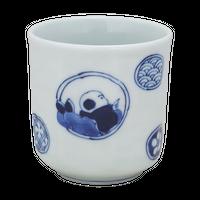 丸紋唐子 湯呑(大)    く09-116-33 寸法:8.5φ×8.5H㎝ 230g