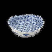 麻の葉 楕円3.0鉢    く09-093-38 寸法:9.5×9×3.5H㎝ 100g