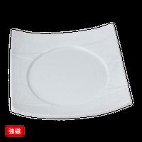 (強)白磁(砂目)7.5四方皿    く09-059-32 寸法:21×21×4.5H㎝ 940g