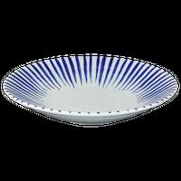 染付十草 リップル7.5皿    く09-098-28 寸法:23.7×4.4H㎝ 575g