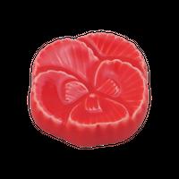 牡丹 赤 箸置き    く09-145-17 寸法:3.8×1H㎝  20g