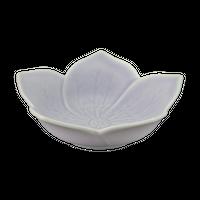桔梗 紫 浅鉢 大    く09-032-23 寸法:11φ×3.4H㎝ 80g