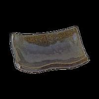 金彩天目(浜付)長角小皿    く09-090-27 寸法:9×6.5×2.5H㎝ 80g