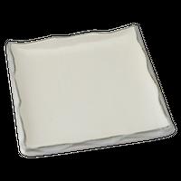 口錆乳白釉 7.0正角皿    く09-061-17 寸法:17.5×17.5×2.5H㎝ 450g